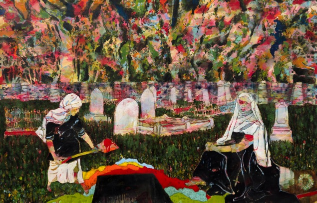 """sam""""The Burial of Painting"""" after Millais 2016 BMC"""